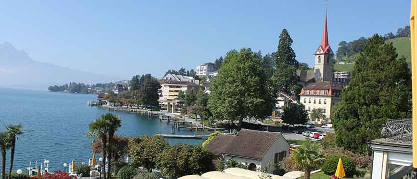 Hotel Beau Rivage, Weggis, Lake Lucerne, Switzerland - view from the hotel.jpg